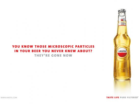 Amstel Print Ad -  Microscopic particles