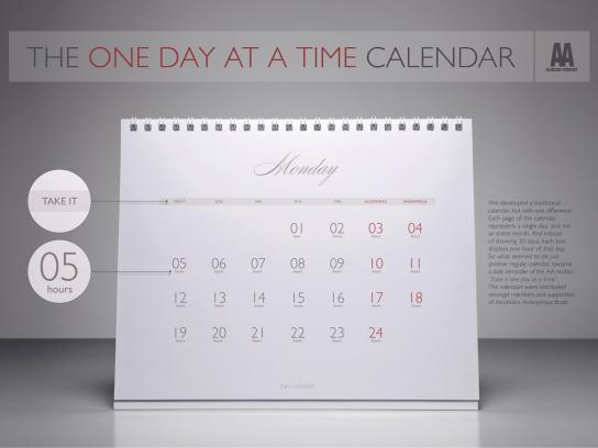 "Alcoholics Anonymous Direct Ad -  The ""One Day At A Time"" Calendar"
