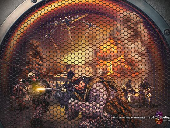 Audio Boutique Sound Design Print Ad -  War