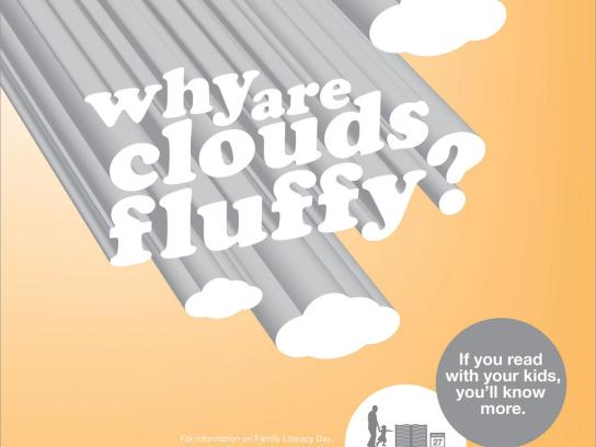 ABC Canada Literacy Foundation Print Ad -  Clouds