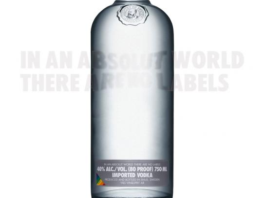 Absolut Print Ad -  No label