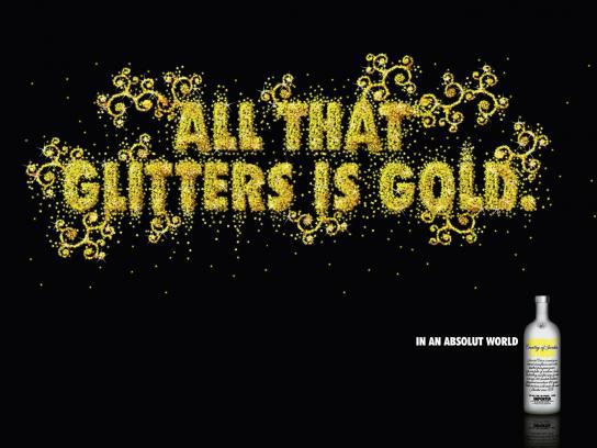 Absolut Print Ad -  Glitter
