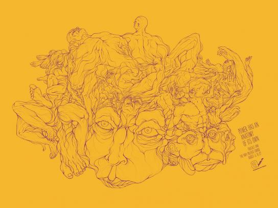 Academia de Ideias Print Ad -  Foucault, 2