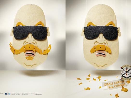 9 de Julho Print Ad -  Beards, Accomplice Thief/Cop