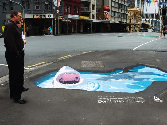 Auckland City Council Ambient Ad -  Sharks
