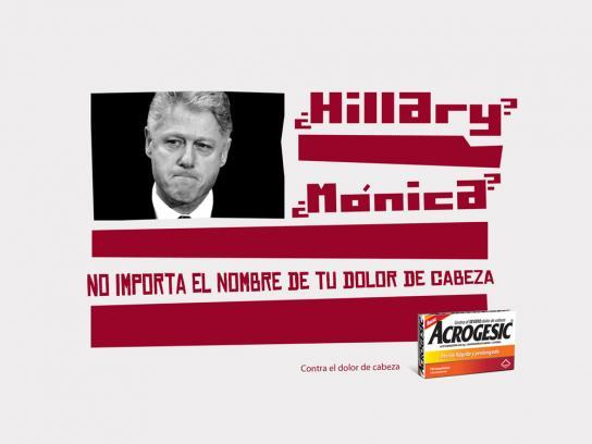 Acrogesic Print Ad -  Clinton