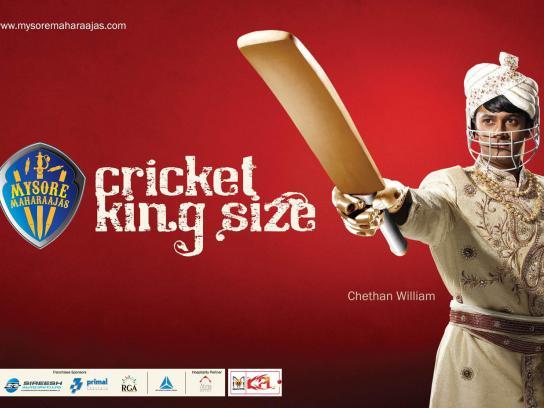 Mysore Maharaajas Print Ad -  Cricket King Size, 1