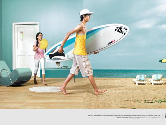 Metrozone Print Ad -  Beach