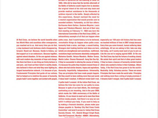 Red Cross Print Ad -  Henry Dunant