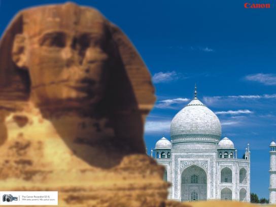 Sphinx vs Taj Mahal