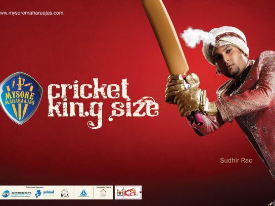 Mysore Maharaajas Print Ad -  Cricket King Size, 3