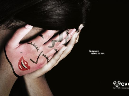 Suicide prevention office Print Ad -  Sadness, Girl