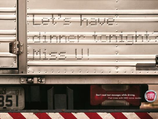 Fiat Print Ad -  SMS, Truck
