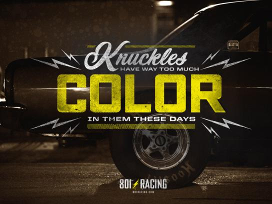801 Racing Print Ad -  Knuckles