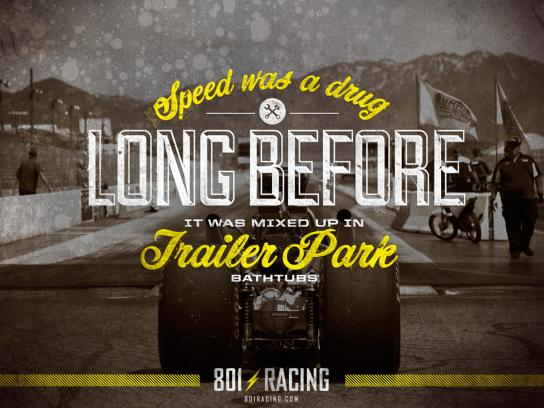 801 Racing Print Ad -  Trailerpark