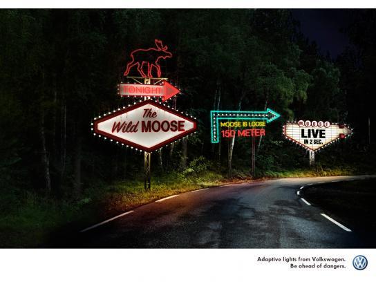 Volkswagen Print Ad -  The Moose is loose