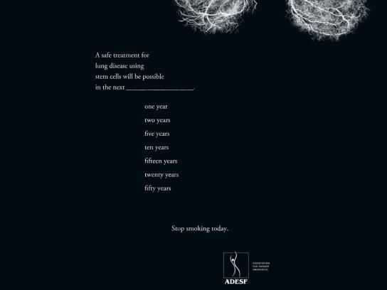 ADESF Print Ad -  Lung disease