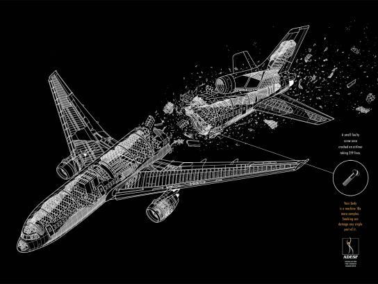 ADESF Print Ad -  Airplane