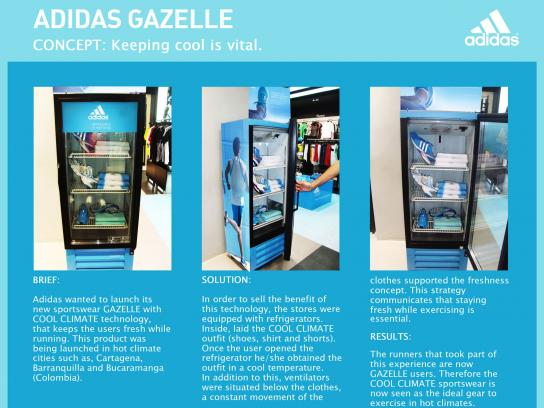 Adidas Ambient Ad -  Gazelle fridge