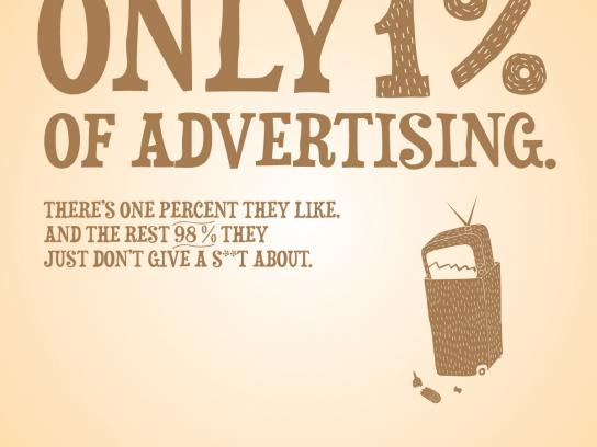ADrenalinas Print Ad -  Advertising Truth, 1%