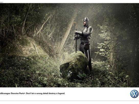Volkswagen Print Ad -  King Arthur