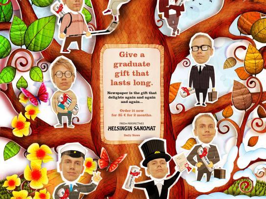 Helsingin Sanomat Print Ad -  Graduate