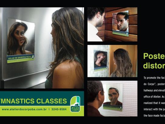 Atelier do Corpo Ambient Ad -  Distortion mirror