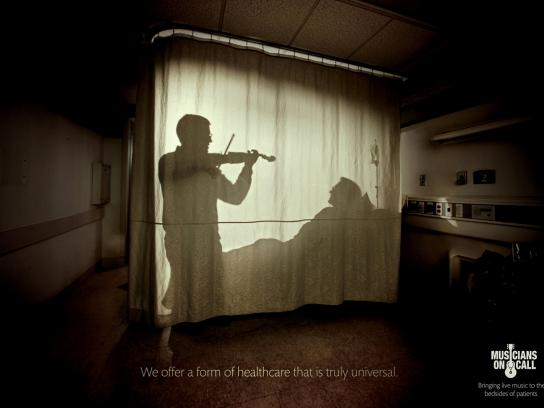 Musicians On Call Print Ad -  Violin