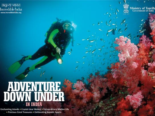 Incredible India Print Ad -  Adventure Down Under
