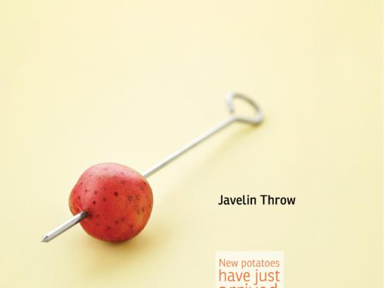 AEPTQ Print Ad -  Amazing potato, Javelin Throw