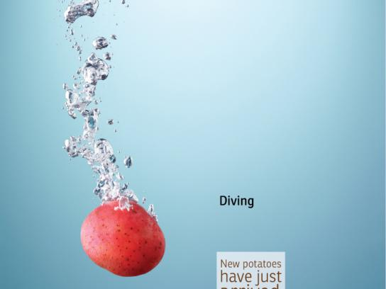AEPTQ Print Ad -  Amazing potato, Diving