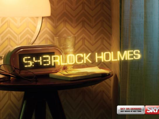 SKY Print Ad -  Any Movie, Any Time, Sherlock Holmes