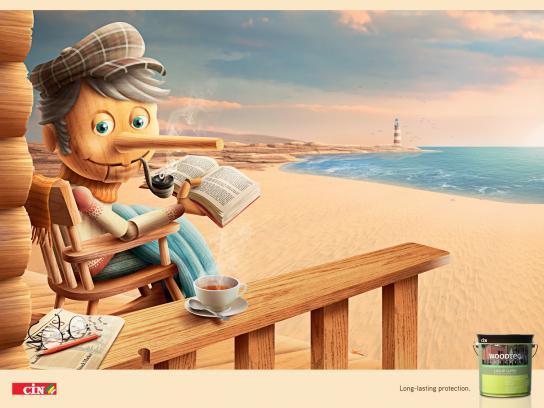 CIN Woodtec Print Ad -  Pinocchio