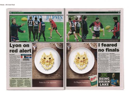 Bega Barbcubes Print Ad -  Rivals, 2