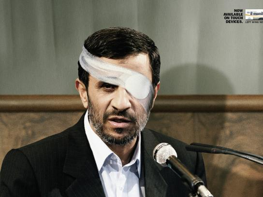 il manifesto Print Ad -  Ahmadinejad