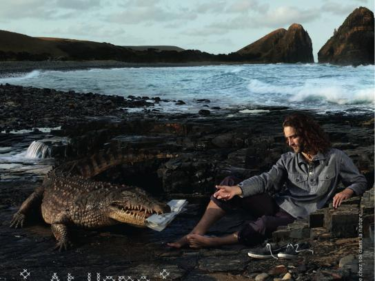 Aigle Print Ad -  Crocodile