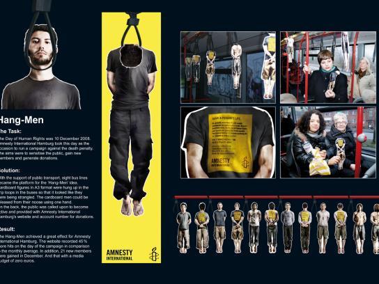 Amnesty International Ambient Ad -  Hang-man