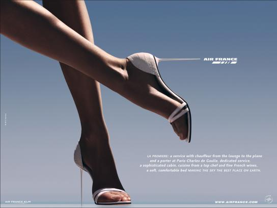 Air France Print Ad -  High heels