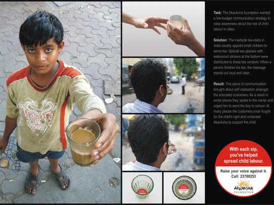 Akanksha Ambient Ad -  Child labour