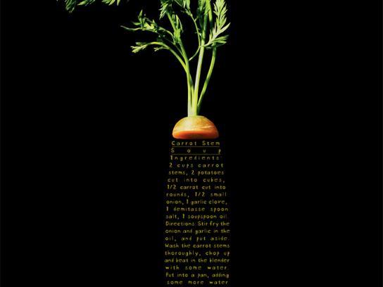 Akatu Institute Print Ad -  Carrot stem soup