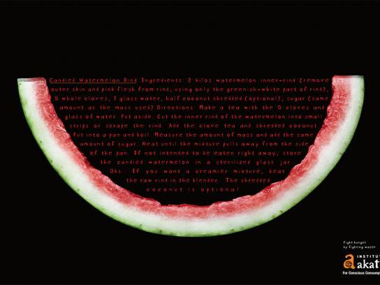 Akatu Institute Print Ad -  Candied watermelon rind