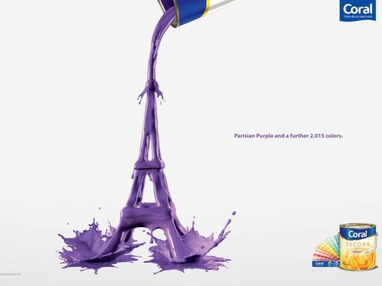 Coral Print Ad -  Eiffel Tower