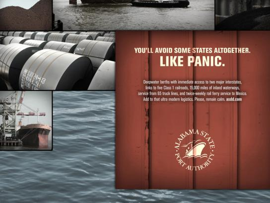Alabama State Print Ad -  Panic