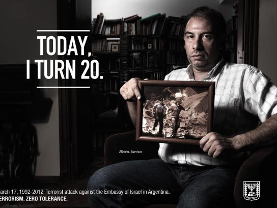 Embassy of Israel Print Ad -  Survivors 20 Years Later, Alberto