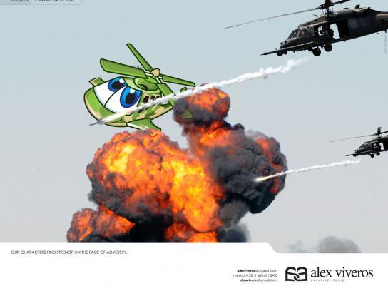 Alex Viveros Print Ad -  Character design, 3