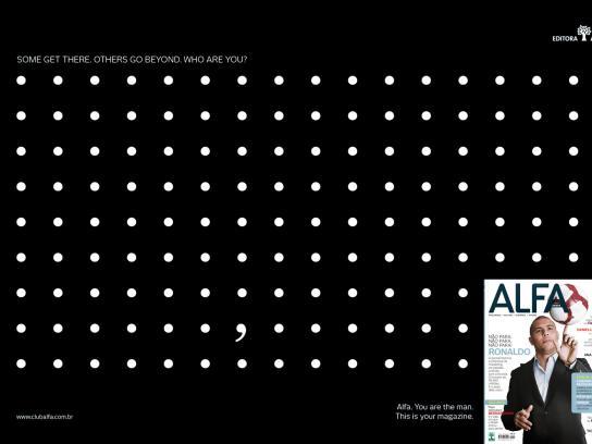 Alfa Magazine Print Ad -  Signs, 2