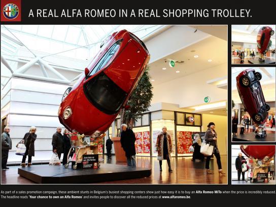 Alfa Romeo Ambient Ad -  Shopping cart