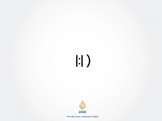 Aljazeera Print Ad -  The Arabic source, broadcasted in English, 3