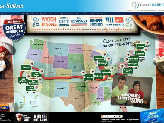 Alka Seltzer Digital Ad -  Great American road trip