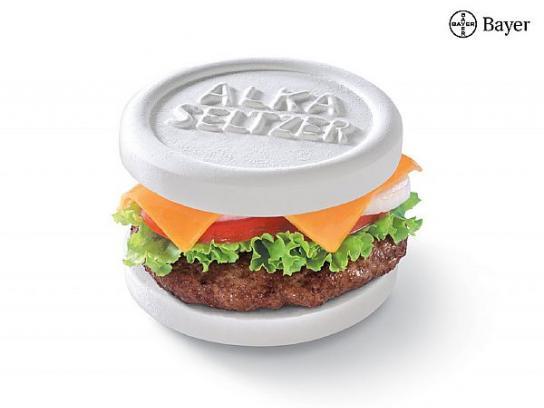 Alka Seltzer Print Ad -  Burger